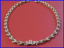 Bracelet ancien or 18 carats maille fantaisie