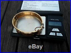 Bracelet ancien or 18 k 12 grammes en l'état