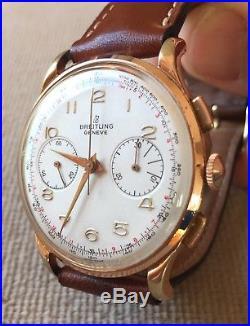 Breitling Chronographe Venus 188 Année 1954 Montre Ancienne Mécanique Vintage
