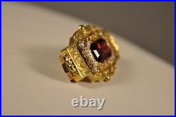 Broche Ancien Bijou Regional Or Massif 18k Antique Enamel Solid Gold Brooch