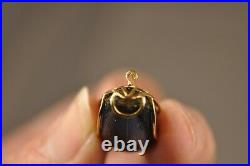 Broche Ancien Scarabee Or Massif 18k Antique Scarab Solid Gold Brooch Signed