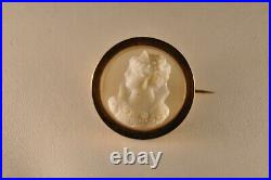 Broche Camee Ancien Agate Or Massif 18k Antique Solid Gold Agate Cameo Brooch