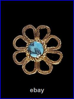 Broche ancienne 1965 CHRISTIAN DIOR plaqué or GROSSE Germany