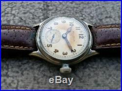 Bulova Militaire Ww2 Ancienne Montre Bracelet Tube 32 MM Cal. 10ak Vers 1940