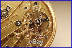 CHRONOMÈTRE échappement détente OR 18K Ancienne montre gousset 1850 pocket watch