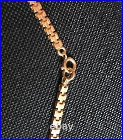 Chaine Collier Ancien or jaune rosé 18 K 750 12,3 gr maille plate original 49cm