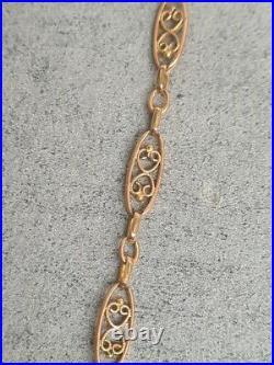 Chaine En Or 18 Carats De Fabrication Ancienne 6.10 Grammes