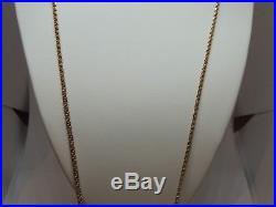 Chaîne ancienne or rose 18 carats très longue