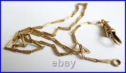 Chaine de montre gousset OR massif Bijou ancien gold watch albert chain