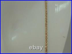 Chaîne longue ancienne or 18 carats des années 40