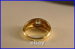 Chevaliere Ancien Or Massif 18k Antique Solid Gold Ring T59