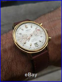 Chronograph Eberjax Ancien 1960 Montre Homme Vintage Valjoux 7734 A Reviser