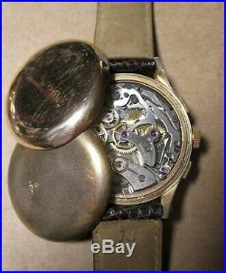 Chronographe ancien Coresa, Landeron 51, or massif 18k, vintage, révisé