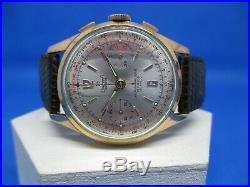 Chronographe ancien Dreffa Genève, Valjoux 92, vintage, révisé