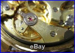 Chronographe ancien Jean Guillemin Venus 188, vintage, révisé