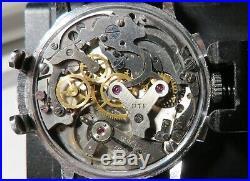 Chronographe ancien UTI, Venus 188, révisé