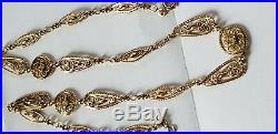 Collier Ancien Filigrane Or Massif 18 Carats 750