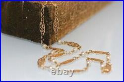 Collier Ancien Or 18 K / Perles De Cultures