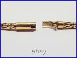 Collier ancien Pompom en Or jaune 18 carats Diamants 0.42 carat 50.84 grammes