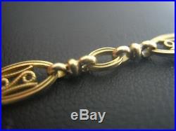 Collier ancien filigrane 52 cm en or 18 carats