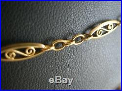 Collier ancien filigrane en or 18 carats longueur 48 cm