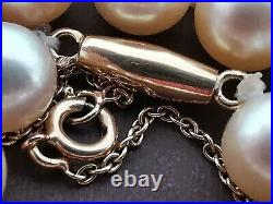 Collier / sautoir ancien grosses perles de culture Akoya début 20e en or massif