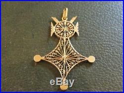 Croix D'Agadè ancienne en or 18 carats