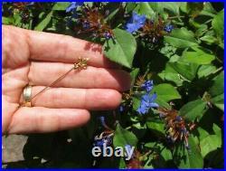 Epingle broche ancienne fleur de lys Rois de France Or 18 carats French 750
