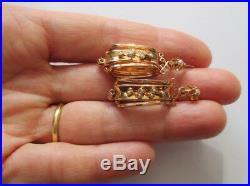 Exceptionnelles boucles doreilles dormeuses anciennes NapIII Or 18 carats 750