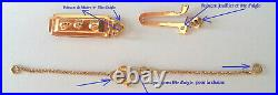 Fermoir Ancien Or 18ct & Chaine Securite 18k Solid Gold Clasp & Safety Chain
