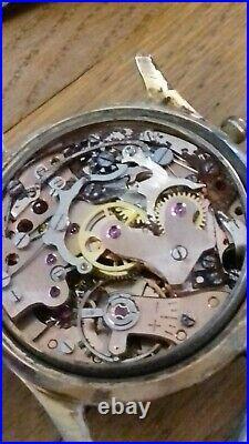 Fond d horloger Montre chronographe ancienne BULOVA pour pieces ou a restaurer