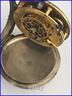 Gousset à COQ ROMANS 26 BOISSIEU ARGENT ancienne Montre elle fonctionne DROME