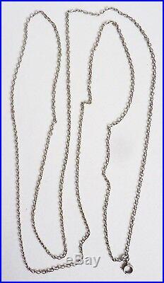 Grand Sautoir chaine collier en argent massif silver chain bijou ancien