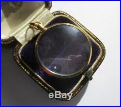 Grand médaillon pendentif porte photo ancien Or 18 carats French gold locker