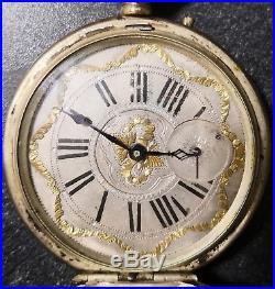 Grande montre à gousset ancienne argent et or poinçon coq