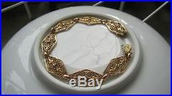 Gros Rare Bracelet Ancien Art Nouveau En Or Rose 18 Carat 17,8 Grammes
