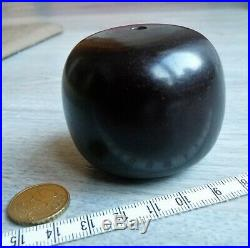 Huge Antique Ancient Amber Red Cherry Faturan Bead Bakelite Ancien Perle 129 G