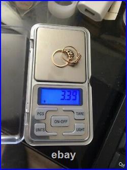 LOT DE 2 Bague Or 18 Carats Bijou Ancien Antique French 18K Gold Ring diamant