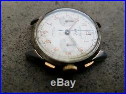 Landeron 48 Ancien Chronograph Suisse 1960 37 MM Montre Vintage Homme Old Watch