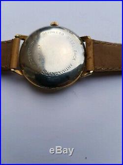 Lip Automatic Ancienne Montre Bracelet Vers 1965 Homme 35 MM Pl. Or Vintage