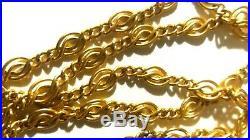 Long sautoir vintage 1m55 maille ancien OR 18k, gold necklasse, collier, chaîne