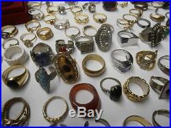 Lot De 192 Bagues Bijoux Ancien Fantaisie