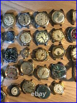 Lot De 38 Montres Anciennes Mecaniques Pour Pieces Ou A Reparer