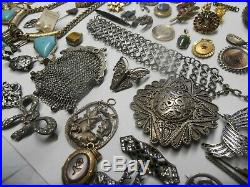 Lot De 70 Bijoux Anciens Vrac Fantaisie