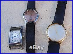 Lot de 3 montres anciennes Doxa, Iaxa Chronomètre, Nobris