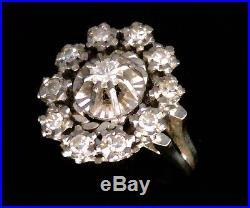 Magnifique Bague Ancienne Or 18 Carats Diamants 0.65 Carat