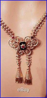 Magnifique Collier Ancien Neglige Or 18 Carats/750