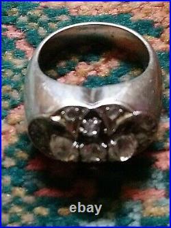 Magnifique bague ancienne en or blanc 18 carats et ses diamants 3,21 carats T 50