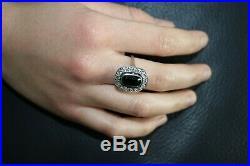 Magnifique bague ancienne or 18 k diamants fait main vers année 1930
