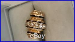 Magnifique et ancien pendentif en or 18 carats + perles fine époque Napoléon III